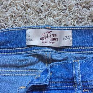 Hollister Shorts - Hollister, Low Rise, Light Wash Jean Shorts